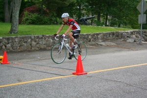 Breathing heavy at the end of timed section #1. Photo Credit: Esme Kline